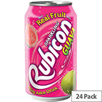 Rubicon 330ml Guava Flavoured Soft Drinks Can Pack of 24