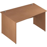 Wave Panel End Left Hand Office Desk Beech W1400mm