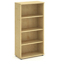 Tall Bookcase with 3 Shelves H1600mm Maple