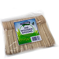Robinson Young Natural birchwood Spoons Ref 10569 Pack of 100