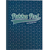 Pukka GLEE Refill Pad 400Pg 80gsm Sidebound A4 Dark Blue Ref 8891GLE Pack of 5