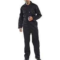 Click Workwear Regular Boilersuit Work Overall Size 46 Black Ref RPCBSBL46