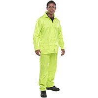 B-Dri Weatherproof Nylon Protective Work Coverall Suit Size 2XL Saturn Yellow Ref NBDSSYXXL