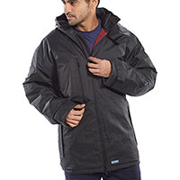 B-Dri Weatherproof Mercury Jacket with Zip Away Hood Size XL Black Ref MUJBLXL