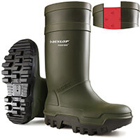 Dunlop Purofort Thermo Plus Safety Wellington Boot Size 6 Green Ref C66293306
