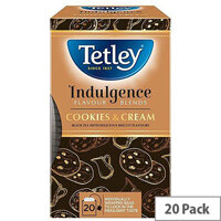 Tetley Indulgence Teabags String and Tag Cookies and Cream 20 Bags