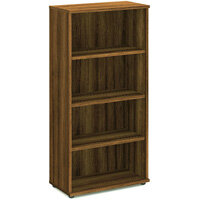Tall Bookcase with 3 Shelves H1600mm Walnut