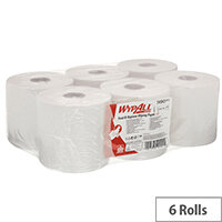 WypAll L10 Centrefeed Hand Towel Roll Single Ply 380x185mm 630 Sheets per Roll White Ref 7490 Pack of 6