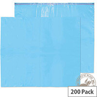 Blake Purely Packaging 711mm x 589mm 55 Microns Pocket Peel and Seal Polythene Mailing Envelope with Address Panels Caribbean Blue Pack of 200 * 3 to 5 Day Lead Time*