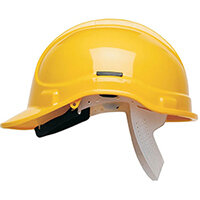 Scott Safety Style 300 HC300SB Unvented Helmet with Polyethylene Standard Headgear Yellow Ref HC300SBY