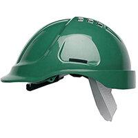 Scott Safety Style 600 HC600 Vented Helmet with Terylene Standard Headgear Green Ref HC600VG