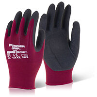 Wonder Grip Glove Neo Oil/Wet Resistance Large Red Pack of 12 Ref WG1857L