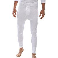 Click Workwear Thermal Long John Trousers Size L White Ref THLJWL