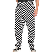 Click Workwear Chefs Work Trousers Size XL Checkered Black & White Ref CCCTBLWXL