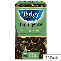 Tetley Indulgence Teabags String and Tag Spiced Apple 20 Bags