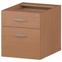 2 Drawer Fixed Desk Pedestal Beech
