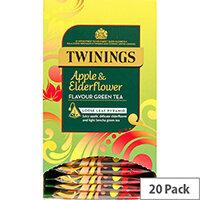 Twinings Tea Bags Individually-wrapped Apple & Elderflower Ref 0403367 Pack of 20