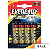 Eveready Gold AA LR6 Alkaline Batteries Pack of 4