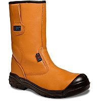 Supertouch Black- Orange Rigger Boots Toecap Size 8