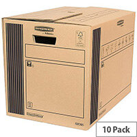Fellowes Classic Packing Cardboard Boxes Storage W350 x D500 x H370mm (Pack of 10)
