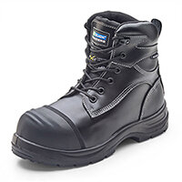 Click Traders Trencher Impact Protect Safety Boots PU/Rubber Size 3 (36) Black - Shock Absorber Heel, Anti-static, Heat Resistant, Slip resistant, Water Resistant, Breathable Ref CF66BL03