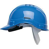 Scott Safety Style 300 HC300EL Vented Helmet with Terylene Standard Headgear Blue Ref HC300VELB