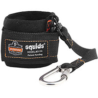 Ergodyne Squids 3114 Pull-On Wrist Lanyard with Carabiner Black Ref EY3114