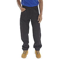 Click Workwear Work Trousers 30 inch Waist with Tall Leg Black Ref AWTBL30T