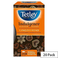 Tetley Indulgence Teabags String and Tag Gingerbread 20 Bags