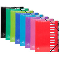 Iderama Harmonika A4 225g/m2 Multipart Document File Assorted Colours Pack of 8