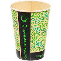 Ingeo Ultimate Eco Bamboo 8oz Biodegradable Disposable Cups Ref 0511223 Pack of 25