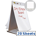 Post-it Table Top Meeting Chart Pads x1 of 20 Sheets and Dry Erase Board