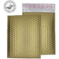 Purely Packaging Bubble Envelope P&S C5+ Metallic Gold Ref MTGOL250 [Pk100]