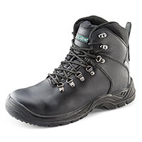 Click Footwear Safety Boots with Internal Metatarsal Impact Protection S3 Size 6 (39) Black - Steel Toe Cap & Composite Midsole Protection, Shock Absorber Heel, Anti-static, Slip Resistant, Water Resistant Ref CF9MBL06