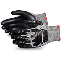 Superior Glove Tenactiv Anti-Impct Cut-Resist Nitr Palm 6 Black Ref SUSTAFGFNVB06