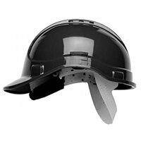 Scott Safety Style 300 HC300EL Vented Helmet with Terylene Standard Headgear Black Ref HC300VELBLK