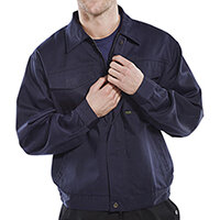 Click Heavyweight Drivers Jacket 36in Navy Blue Ref PCJ9N36
