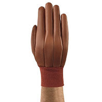 Ansell Hyd-Tuf Size 9 Multi-Purpose Medium-Duty Work Gloves Brown/Red