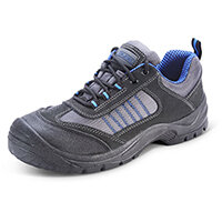 Click Footwear Mesh Active Trainers Size 3 Black & Blue - Steel Toe Cap & Midsole Protection, Shock Absorber Heel, Anti-static, Oil Resistant Sole, Slip Resistant Ref CF1703