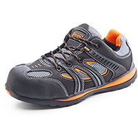 Click Footwear Action Trainer Non-metallic Size 3 (36) Black & Orange Ref CF1903