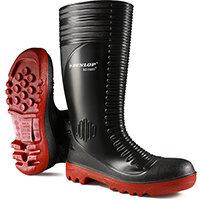 Dunlop Acifort Safety Wellington Boots Ribbed Size 6 Black Ref A25293106