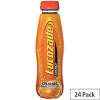 Lucozade Energy 380ml Orange Drink Bottle Pack of 24