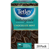 Tetley Indulgence Teabags String and Tag Chocolate Mint 20 Bags