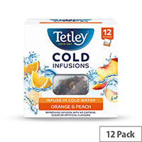 Tetley Cold Infusions Peach & Orange Ref 1601A Pack of 12