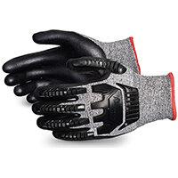 Superior Glove Tenactiv Anti-Impct Cut-Resist Nitr Palm 7 Black Ref SUSTAFGFNVB07