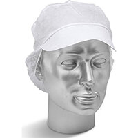 Click Once Disposable Snood Cap White Ref DSCW500