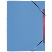 Pagna A4 5 Compartment Sorting File Light Blue Pack of 10