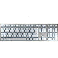 Cherry KC6000 Wired Slim Keyboard Silver Ref JK-1600GB-1