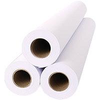 Inkjet Plotter Roll 610mm x 50m 80gsm White Ref 2654C Pack of 6