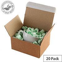 Blake Purely Packaging Peel and Seal 210mm x 180mm x 130mm Postal Box Kraft Pack of 20